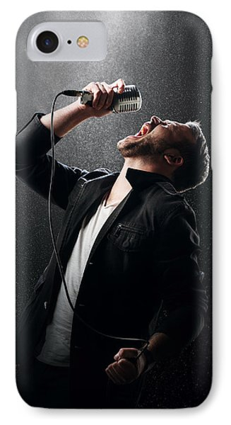 Male Singer Performing IPhone Case
