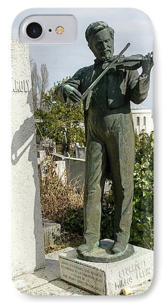 Man Plays A Violin Statue IPhone Case