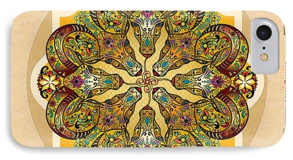 Mandala Sacred Rams - Bright Version Sp IPhone Case