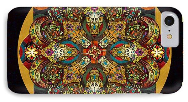 Mandala Sacred Rams - Dark Version Sp IPhone Case
