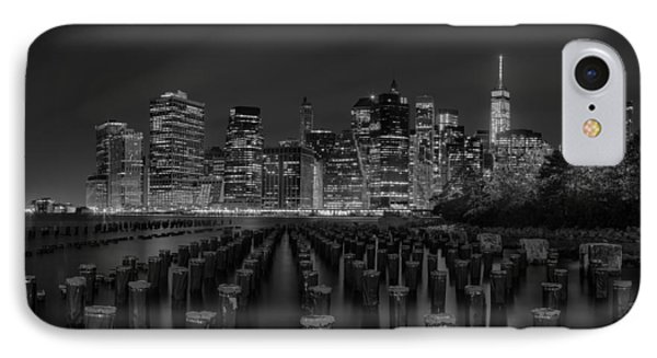 Manhattan And The Brooklyn Pileons In Black And White IPhone Case