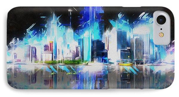 Manhattan Downtown Lights IPhone Case