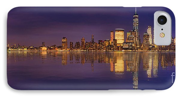 Manhattan, New York At Dusk Panoramic View IPhone Case