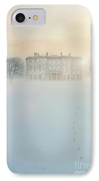 Mansion House In Snow IPhone Case