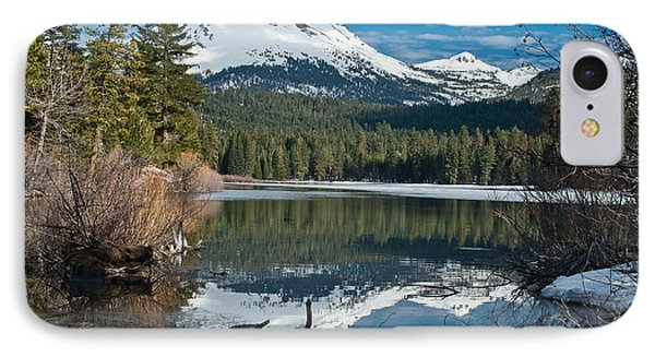 Manzanita Lake Reflects On Mount Lassen IPhone Case