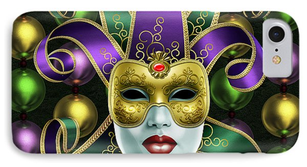 Mardi Gras Mask And Beads IPhone Case