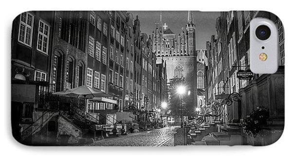 Mariacka By Night In Black And White IPhone Case