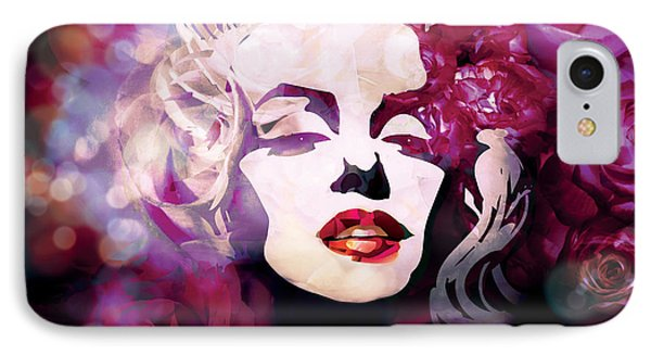 Marilyn Monroe In Purple Colors IPhone Case