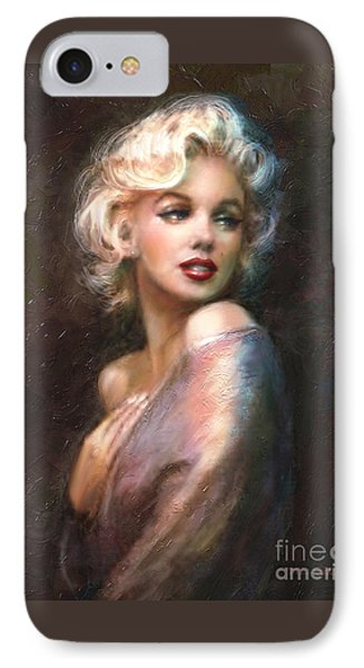 Portraits iPhone 8 Case - Marilyn Romantic Ww 1 by Theo Danella