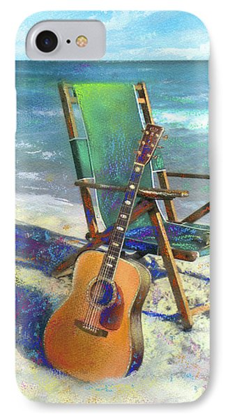 Guitar iPhone 8 Case - Martin Goes To The Beach by Andrew King
