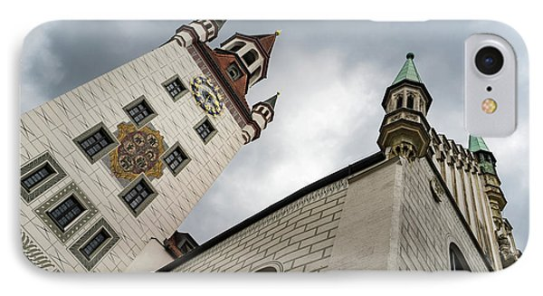 Marvelous Munich - Altes Rathaus Old Town Hall Against Ominous Clouds IPhone Case
