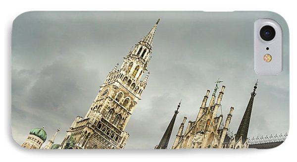 Marvelous Munich - Ornate Neues Rathaus And The Famous Glockenspiel IPhone Case