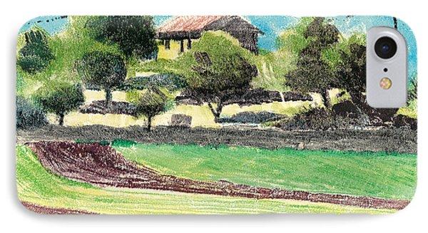 mas en Provence landscape IPhone Case