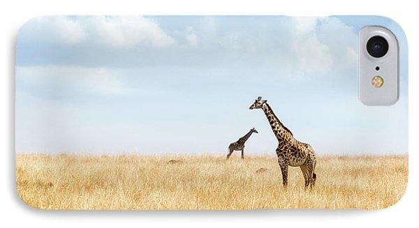 Africa iPhone 8 Case - Masai Giraffe In Kenya Plains by Susan Schmitz