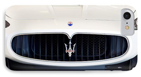 Maserati White Pano 121715 IPhone Case