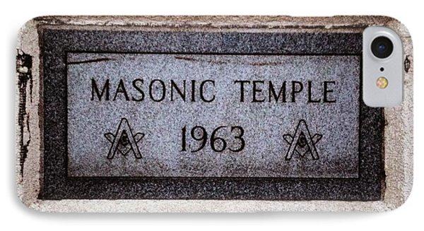 Masonic Temple IPhone Case