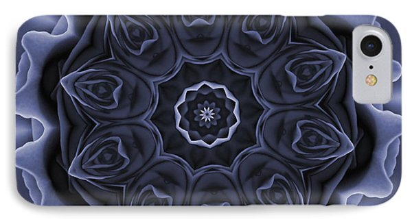 Mauve Rose Mandala IPhone Case