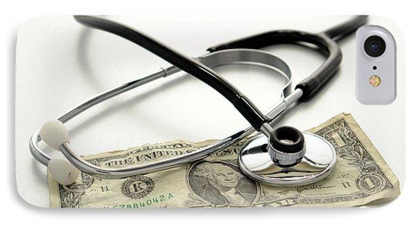 Medical Stethoscope On Used Dollar Bill IPhone Case