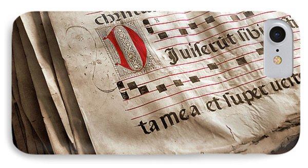 Medieval Choir Book IPhone Case