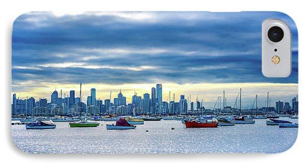 Melbourne Skyline IPhone Case