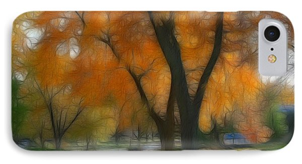 Memory Of An Autumn Day IPhone Case