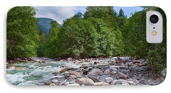 Merging Rivers And Many Rocks Landscape Photography By Omashte IPhone Case