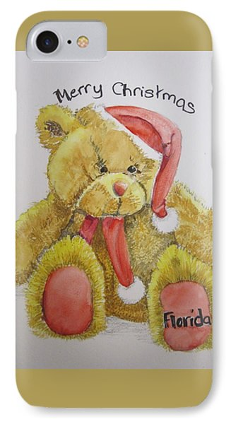 Merry Christmas Teddy  IPhone Case