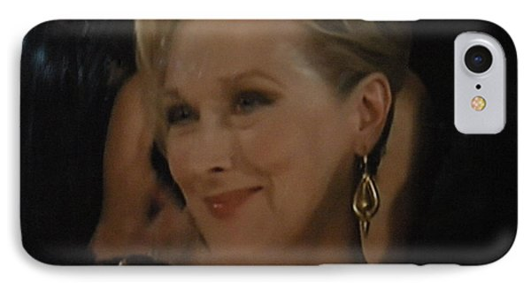 Meryl Streep Receiving The Oscar As Margaret Thatcher  IPhone Case