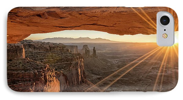 Beauty In Nature iPhone 8 Case - Mesa Arch Sunrise 4 - Canyonlands National Park - Moab Utah by Brian Harig
