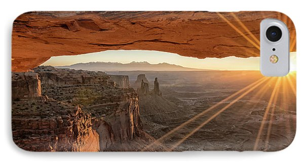 Mesa Arch Sunrise 4 - Canyonlands National Park - Moab Utah IPhone Case