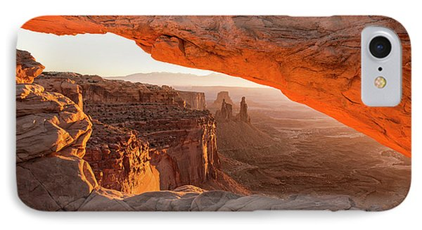 Beauty In Nature iPhone 8 Case - Mesa Arch Sunrise 5 - Canyonlands National Park - Moab Utah by Brian Harig
