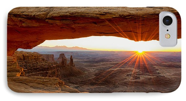 Beauty In Nature iPhone 8 Case - Mesa Arch Sunrise - Canyonlands National Park - Moab Utah by Brian Harig