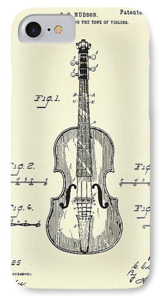 Violin iPhone 8 Case - Method Of Improving The Tone Of Violins-1888 by Pablo Romero