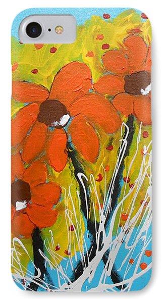Mexican Sunflowers Flower Garden IPhone Case