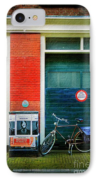 IPhone Case featuring the photograph Michel De Hey Bicycle by Craig J Satterlee
