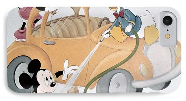 Micky,minnie And Donald On Car IPhone Case