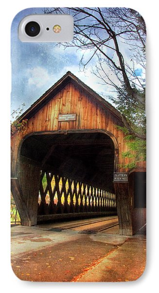 IPhone Case featuring the photograph Middle Covered Bridge - Woodstock Vermont by Joann Vitali