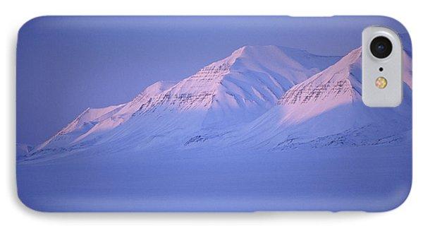 Midnight Sunset On Polar Mountains IPhone Case