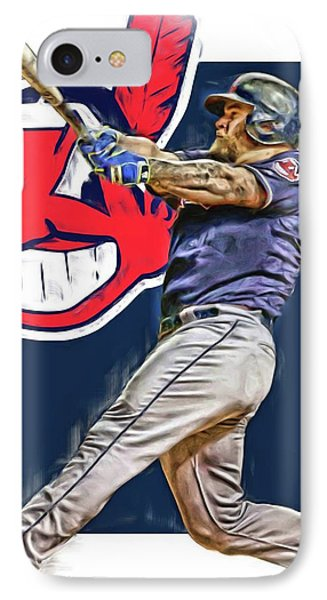 Mike Napoli Cleveland Indians Oil Art 2 IPhone Case