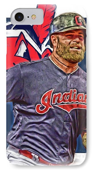 Mike Napoli Cleveland Indians Oil Art IPhone Case