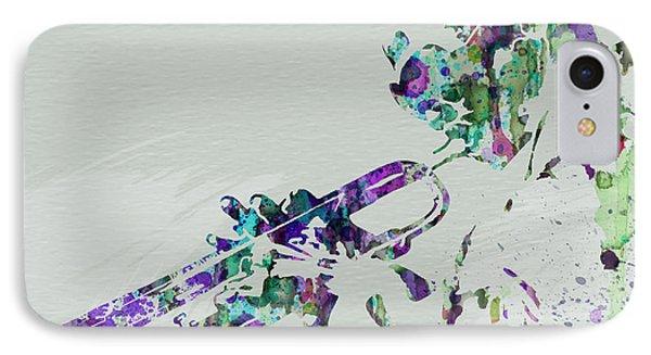 Saxophone iPhone 8 Case - Miles Davis by Naxart Studio