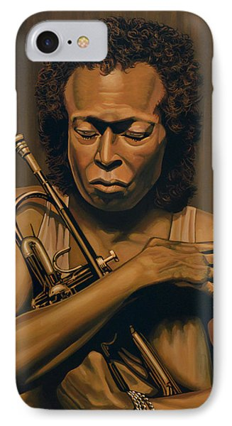 Trumpet iPhone 8 Case - Miles Davis Painting by Paul Meijering