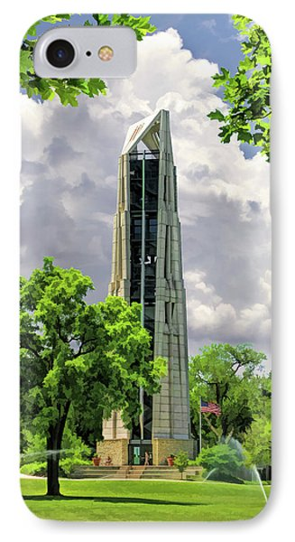 IPhone Case featuring the painting Millennium Carillon by Christopher Arndt