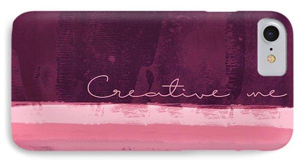 Minima - Creative Me - R01at55 - Pinks IPhone Case
