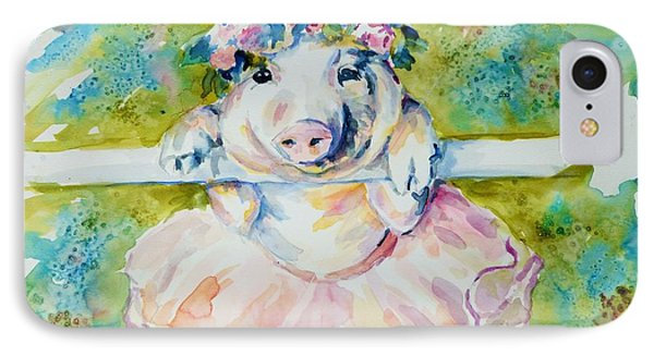 Miss Piggy At The Bar IPhone Case