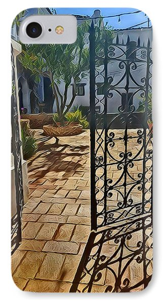 Mission Courtyard IPhone Case