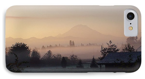 Misty Mt. Rainier Sunrise IPhone Case
