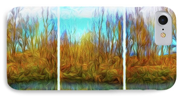 Misty River Vistas - Triptych IPhone Case