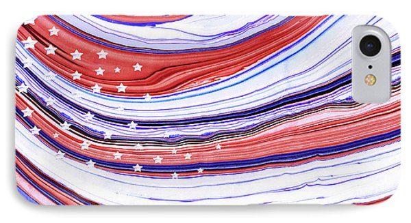 Modern American Flag - Red White And Blue - Sharon Cummings IPhone Case