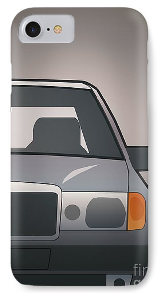 Modern Euro Icons Series Mercedes Benz W124 500e Split  IPhone Case